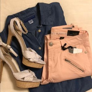 i Jeans by Buffalo Pale Pink Ankle Jeans - 27/4